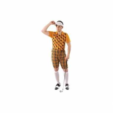 Goedkoop drie golf carnavalskleding oranje heren