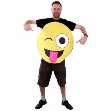 Goedkoop emoticon carnavalskleding foam knipoog volwassenen