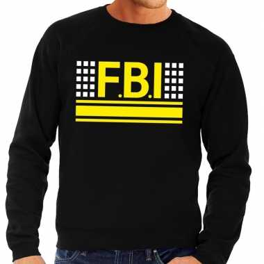 Goedkoop fbi logo sweater zwart heren carnavalskleding