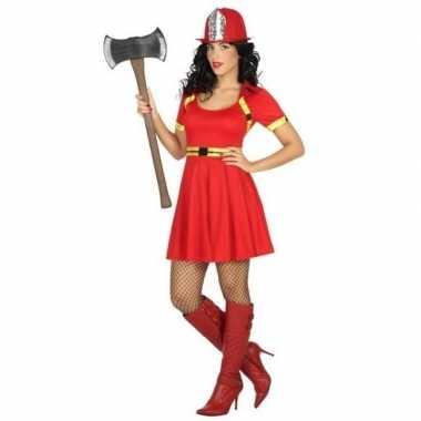 Goedkoop feest/carnaval brandweer vrouwen verkleedcarnavalskleding ju