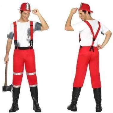 Goedkoop feest/carnaval brandweermannen verkleedcarnavalskleding bret