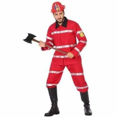 Goedkoop feest/carnaval brandweermannen verkleedcarnavalskleding here