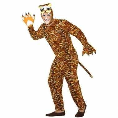 Goedkoop feest/carnaval dieren carnavalskleding tijger volwassenen