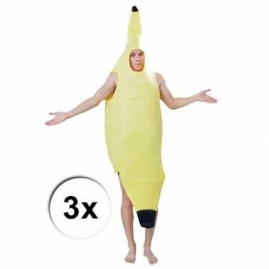 Goedkoop feest groepscarnavalskleding bananentros 10058063