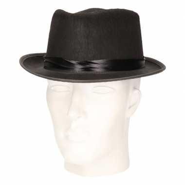 Goedkoop feest hoed blues zwart volwassenen carnavalskleding
