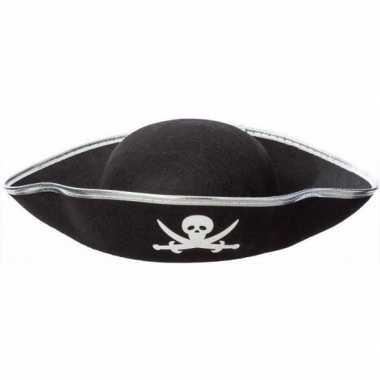 Goedkoop feest piraat hoeden zwart volwassenen carnavalskleding