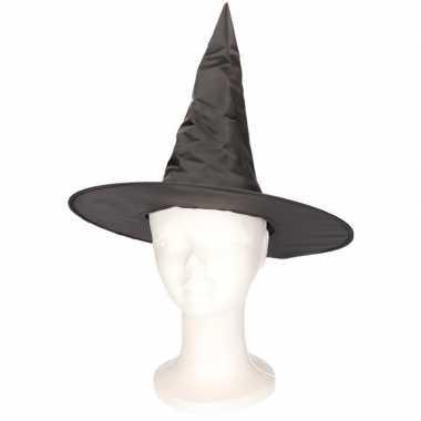 Goedkoop feest zwart heksenhoedje kinderen carnavalskleding