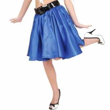 Goedkoop feestcarnavalskleding blauwe swing rok dames