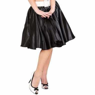 Goedkoop feestcarnavalskleding zwarte swing rok dames
