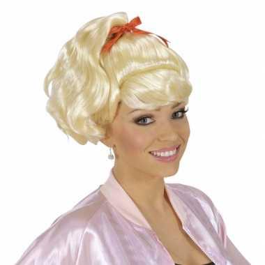 Goedkoop feestpruik sandy dames carnavalskleding
