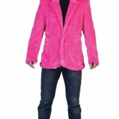 Goedkoop  Fel roze carnaval jas carnavalskleding