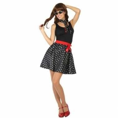 Goedkoop fifties verkleed jurkje dames carnavalskleding
