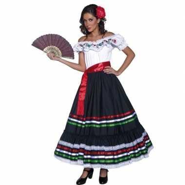 Goedkoop flamenco danseres jurk carnavalskleding