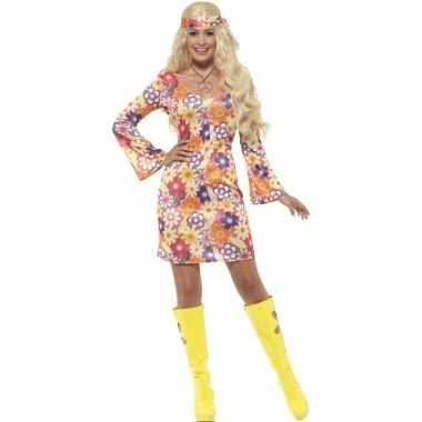 Goedkoop flower power hippie dames sixties carnavalskleding