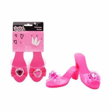 Goedkoop fuchsia roze prinses schoenen meiden carnavalskleding