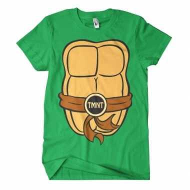 Goedkoop fun ninja turtles shirt heren carnavalskleding