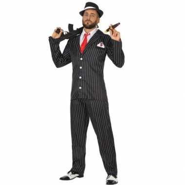 Goedkoop gangster verkleed carnavalskleding heren