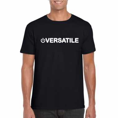 Goedkoop gay shirt power versatile zwart heren carnavalskleding