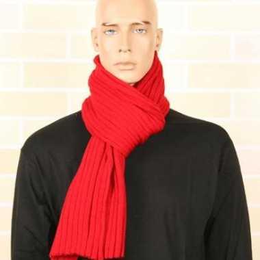 Goedkoop gebreide winter sjaal rood carnavalskleding