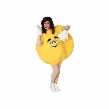 Goedkoop geel snoepje carnavalskleding volwassenen