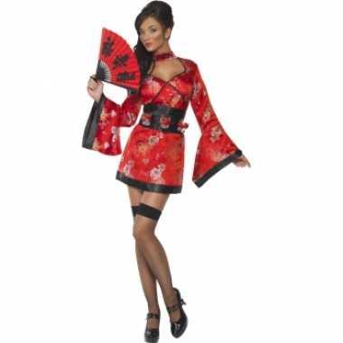 Goedkoop geisha jurk shotglaasjes riem carnavalskleding