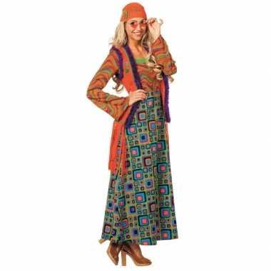 Goedkoop gekleurd hippie dames carnavalskleding