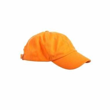 Goedkoop gekleurde oranje baseballcaps carnavalskleding