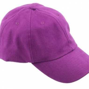Goedkoop gekleurde paarse baseballcaps carnavalskleding