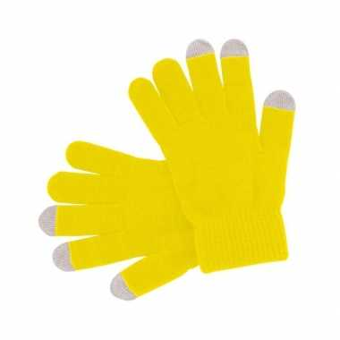 Goedkoop gele handschoenen je mobiel carnavalskleding