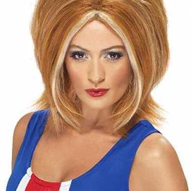 Goedkoop ginger power pruik rood haar carnavalskleding