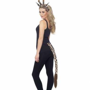 Goedkoop giraffe verkleed setje volwassenen carnavalskleding