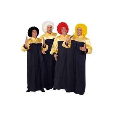 Goedkoop gospel zanger carnavalskledings
