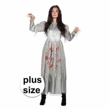 Goedkoop grijze jurk grote maat bloed dames carnavalskleding