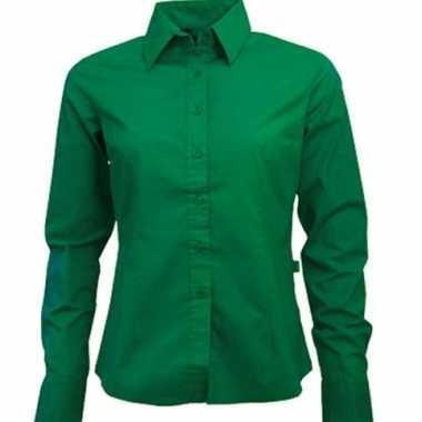 Goedkoop  Groen ongsleeve overhemd dames carnavalskleding