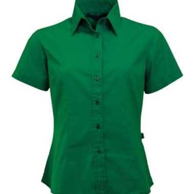 Goedkoop  Groen shortsleeve dames overhemd carnavalskleding