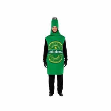 Goedkoop groene bierfles verkleedcarnavalskleding volwassenen
