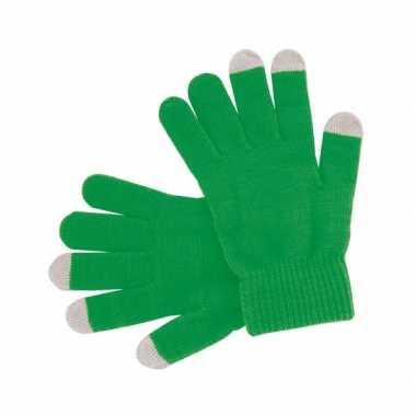 Goedkoop groene handschoenen je mobiel carnavalskleding