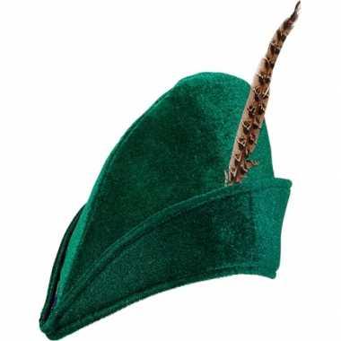 Goedkoop groene robin hood hoed carnavalskleding