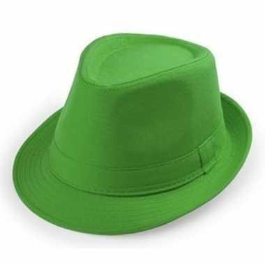Goedkoop groene trilby hoedjes volwassenen carnavalskleding