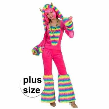 Goedkoop grote maat carnavalscarnavalskleding fantasie monster dames