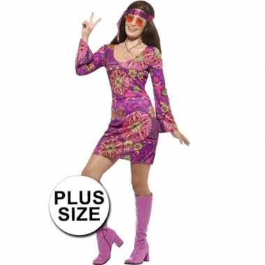Goedkoop grote maat dames hippies carnavalskleding jaren