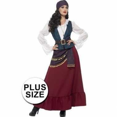 Goedkoop grote maat dames piraat carnavalskleding