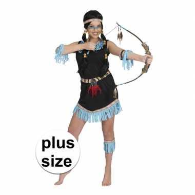 Goedkoop grote maat indiaan amadahy carnavalsjurkje dames carnavalskl