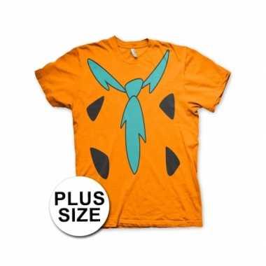 Goedkoop grote maten fun flintstones shirt heren carnavalskleding