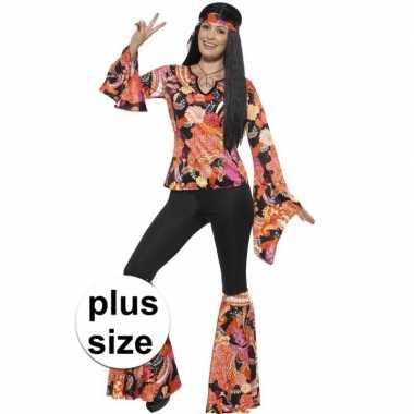 Goedkoop grote maten hippie carnavalskleding willow dames