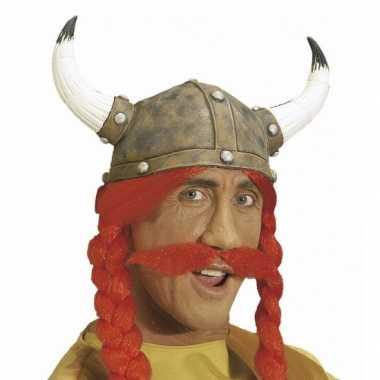 Goedkoop grote rode nep snor carnavalskleding