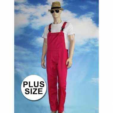 Goedkoop grote verkleed tuinbroek fuchsia volwassenen carnavalskledin