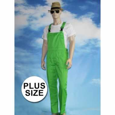 Goedkoop grote verkleed tuinbroek groen volwassenen carnavalskleding
