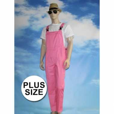 Goedkoop grote verkleed tuinbroek roze volwassenen carnavalskleding