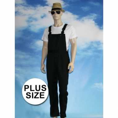Goedkoop grote verkleed tuinbroek zwart volwassenen carnavalskleding